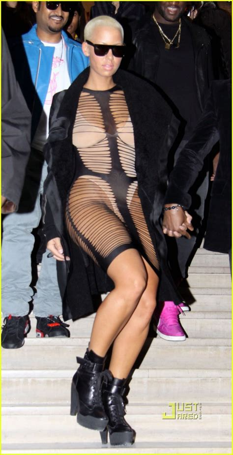 Amber Rose Wears A Barely There Dress in Paris: Photo