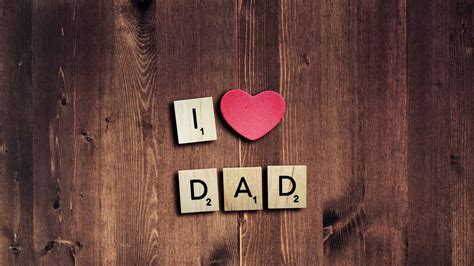Wallpaper I Love Dad, Love Heart, Pink Heart, Father's Day