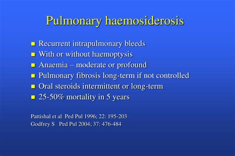 PPT - A clinical approach to Paediatric Interstitial Lung